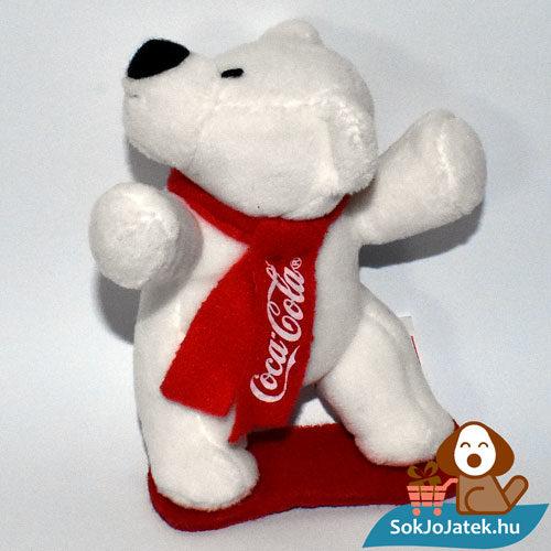 Coca-Cola plüss jegesmedve snowboard-on