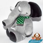 Kinder plüss elefánt zöld kendővel balról