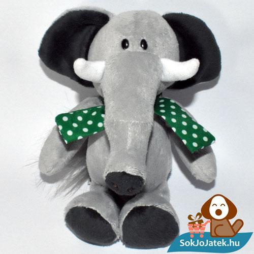 Kinder plüss elefánt zöld kendővel