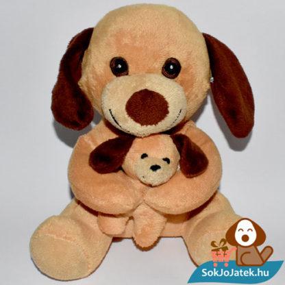 Kutya plüss kiskutyával