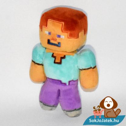 Minecraft Steve plüss bal oldalról fotózva