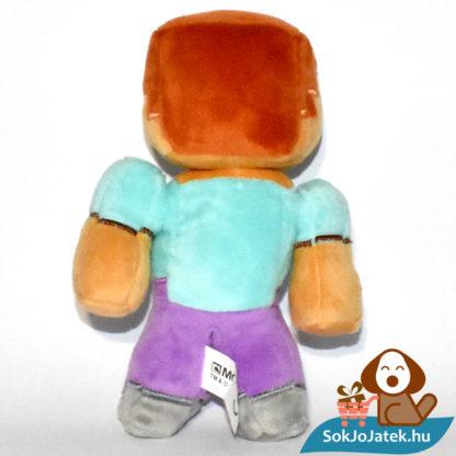 Minecraft Steve plüss hátulról fotózva