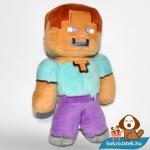 Minecraft Steve plüss jobb oldalról fotózva