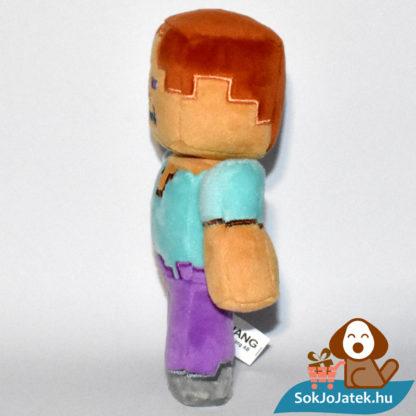 Minecraft Steve plüss oldalról fotózva