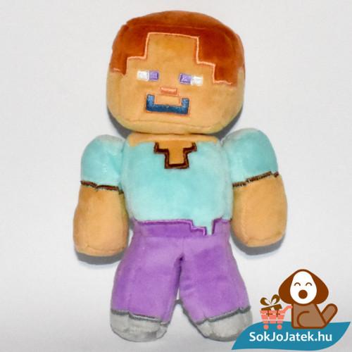 Minecraft Steve plüss szemből fotózva