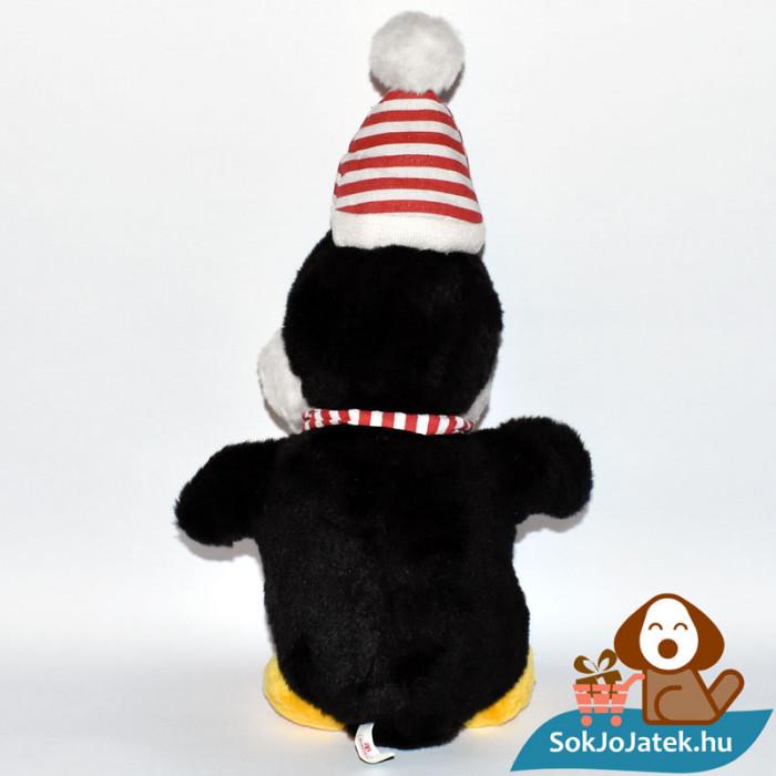 Windel csíkos sálas plüss pingvin hátulról