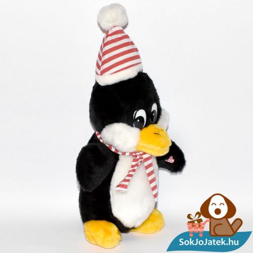 Windel csíkos sálas plüss pingvin jobbról