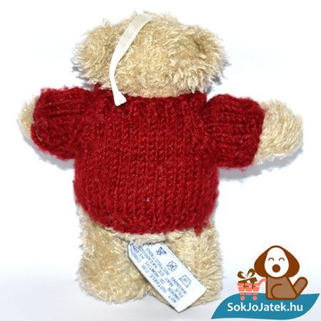 Great Gifts kötött pulóveres plüss mackó hátulról