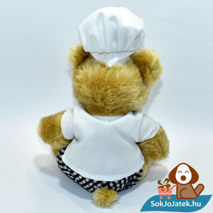 Dorint szakács plüss maci hátulról