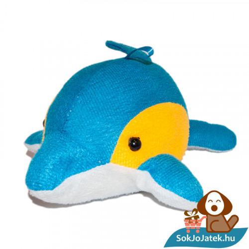 Nicky Toy kék-sárga-fehér plüss delfin