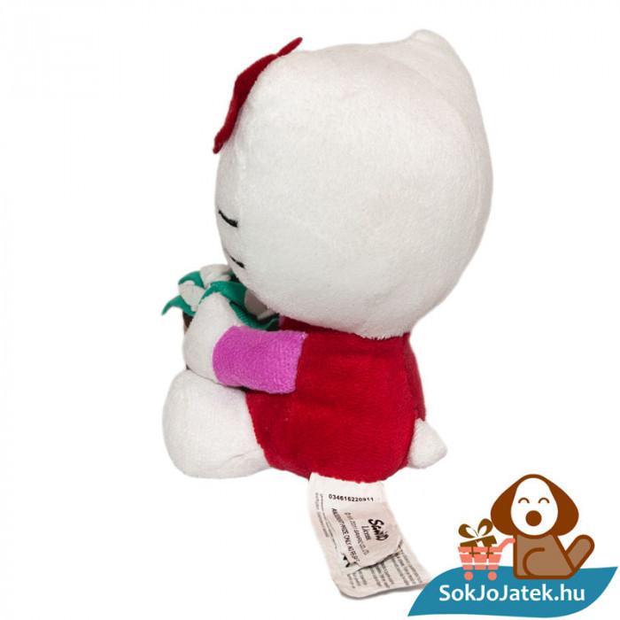 Hello Kitty plüss virágcseréppel oldalról