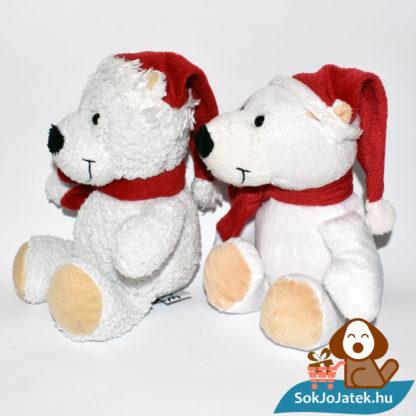 Kinder plüss jegesmedve - bolyhos és sima szőrű, balról