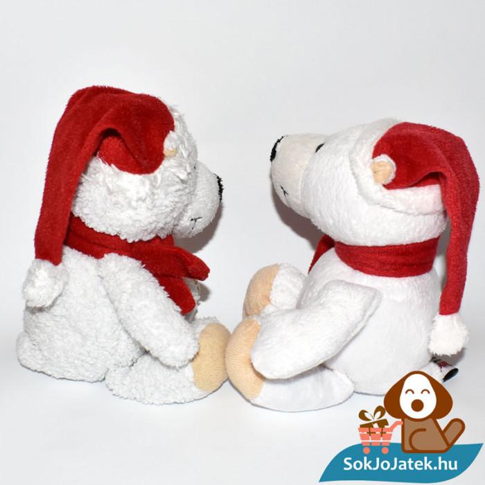 Kinder plüss jegesmedve - bolyhos és sima szőrű, oldalról