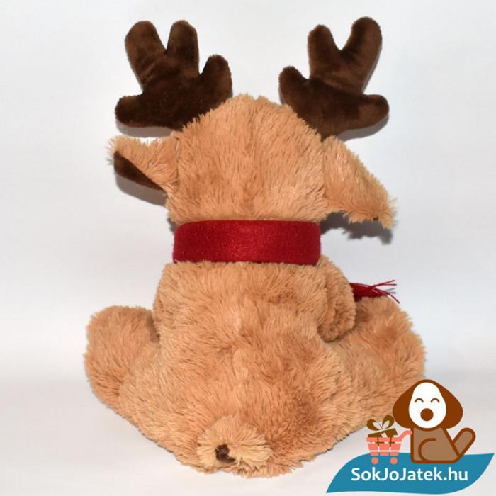 Vörös orrú, sálas plüss Rudolf szarvas hátulról