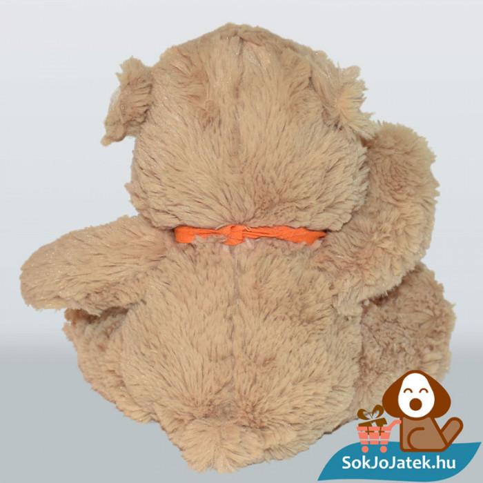 Pampers, narancssárga kendős plüss maci hátulról