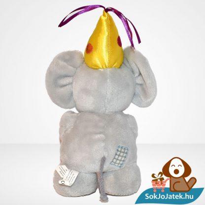 1 éves szülinapi vagy évfordulós plüss elefánt (Elliot & Buttons) hátulról