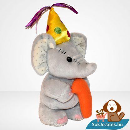 1 éves szülinapi vagy évfordulós plüss elefánt (Elliot & Buttons) jobbról