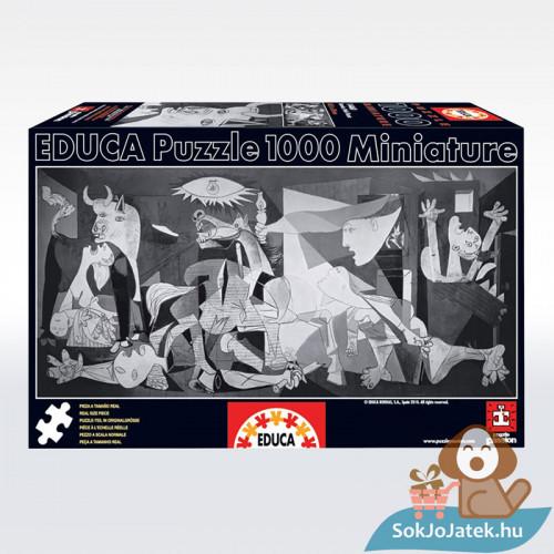 Pablo Picasso: Guernica - 1000 db-os Educa mini puzzle (14460), sötét doboz