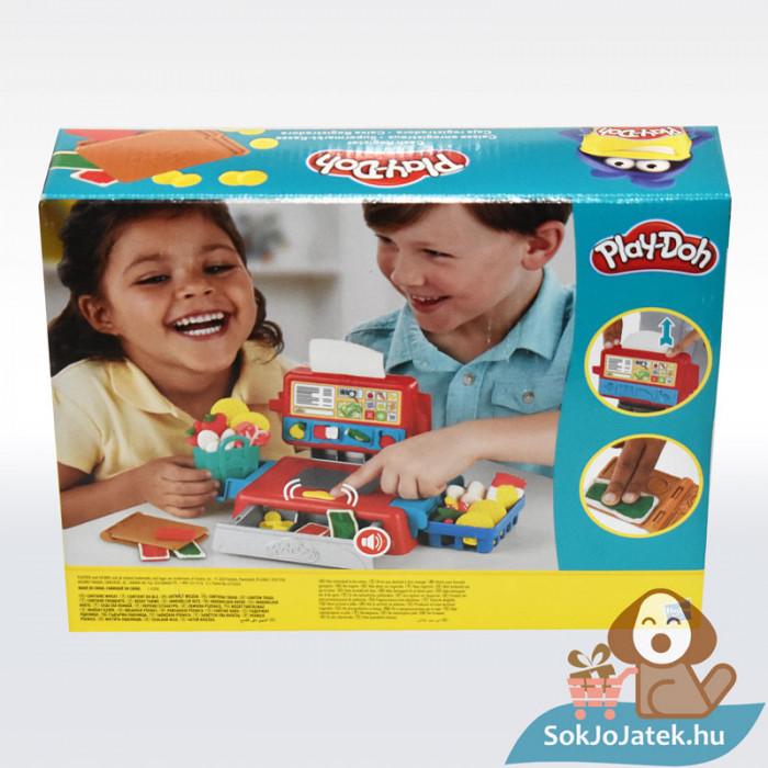 Play-Doh: Pénztárgép szett gyurma készlet, hátulról