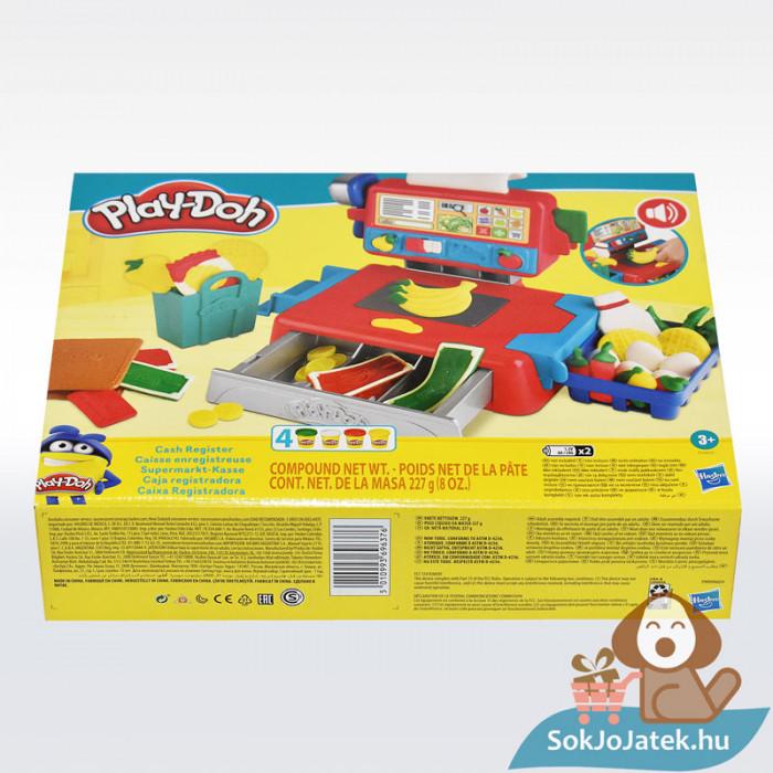 Play-Doh: Pénztárgép szett gyurma készlet, oldalról