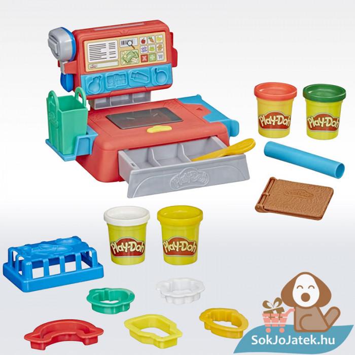 Play-Doh: Pénztárgép szett gyurma készlet, tartalom
