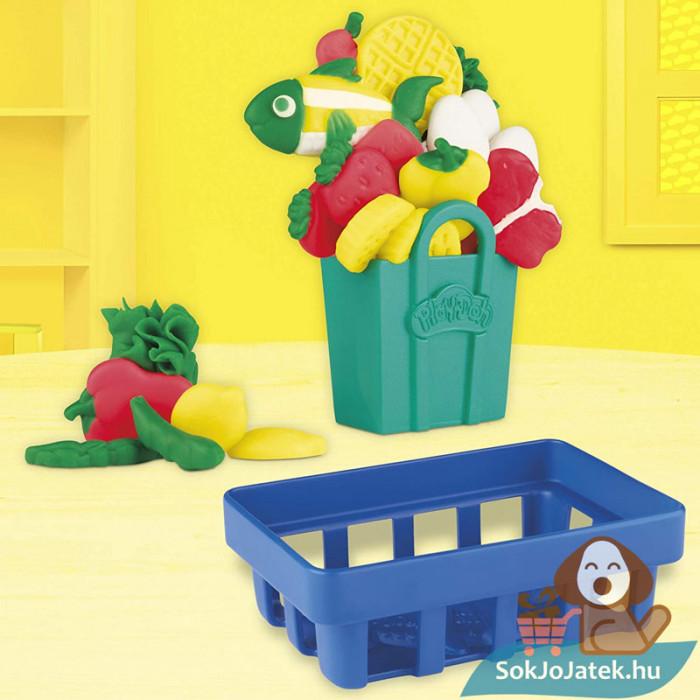 Play-Doh: Pénztárgép szett gyurma készlet, zöldségek és gyümölcsök