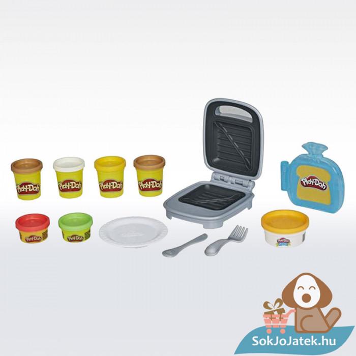 Play-Doh: Szendvicssütő szett gyurmával, a doboz tartalma