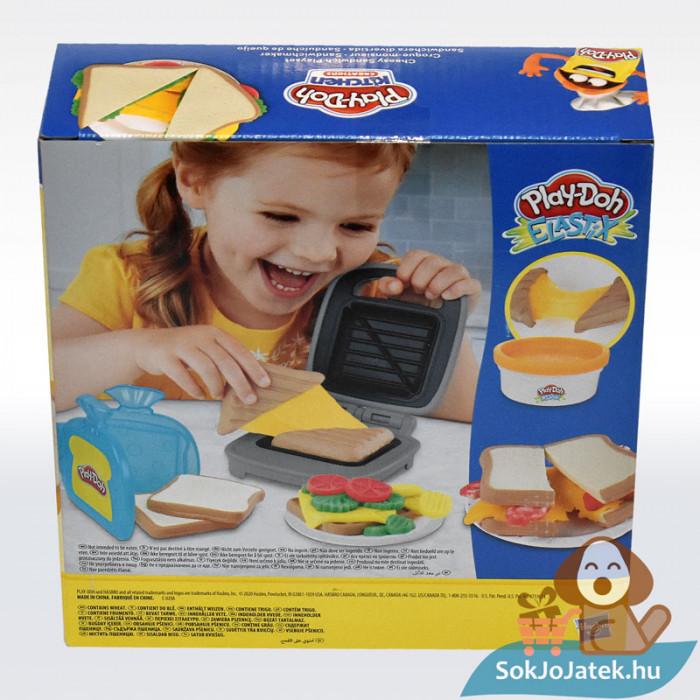 Play-Doh: Szendvicssütő szett gyurmával, hátulról