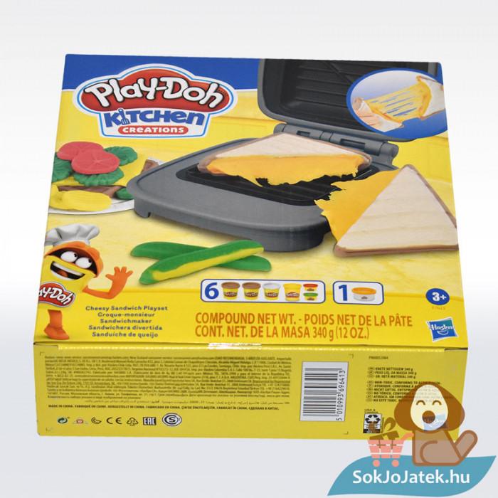 Play-Doh: Szendvicssütő szett gyurmával, oldalról