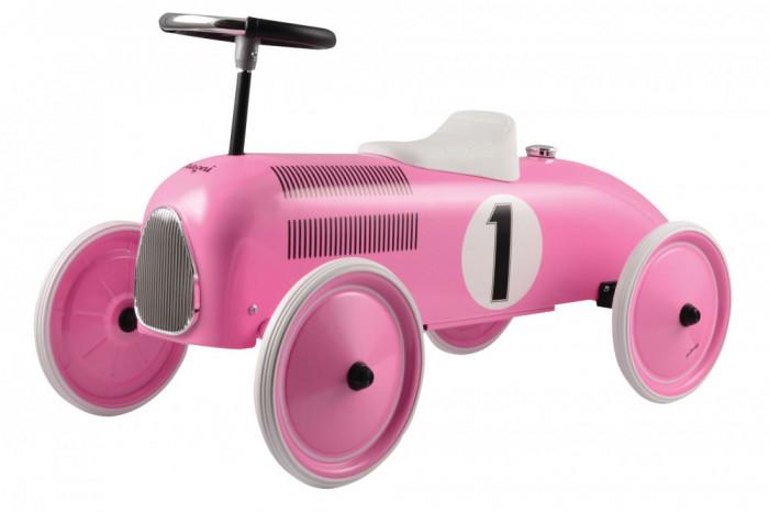 Ride-on lábbal hajtós versenyautó, rózsaszín, Magni