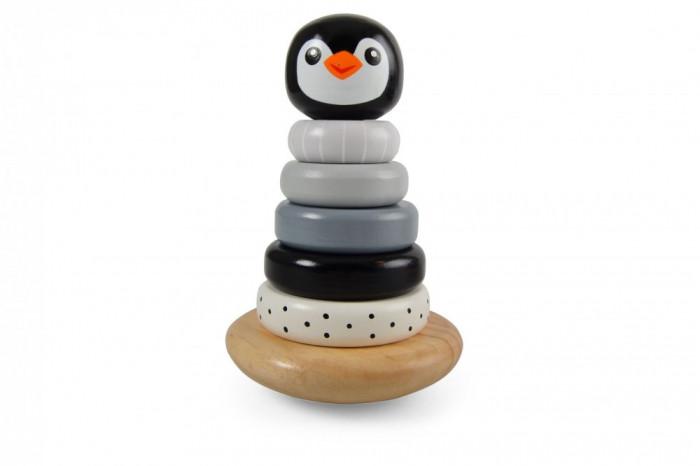 Pingvines toronyépítő játék fából Magni