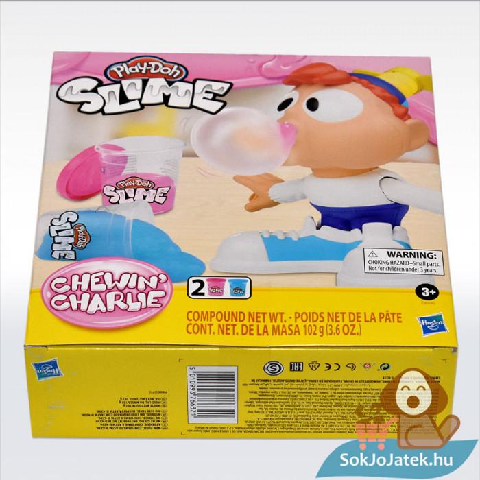 Play-Doh: Chewin Charlie slime, 2 darab, oldalról