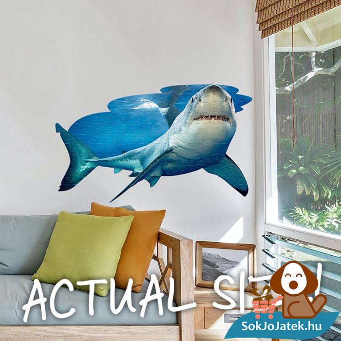 100 db élethű cápa forma kirakó junior - Wow Toys kirakó a falon