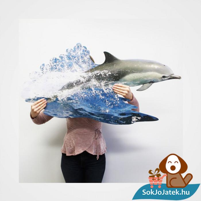 100 db élethű delfin forma kirakó junior - Wow Toys ragasztott kirakó