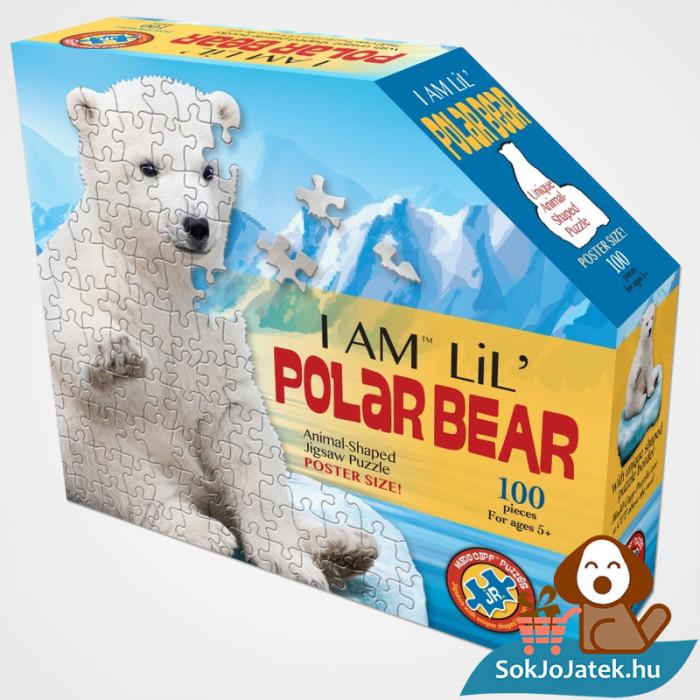 100 db élethűjegesmedve forma kirakó junior - Wow Toys doboza