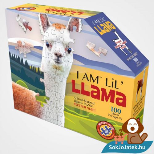 100 db élethű láma forma kirakó junior - Wow Toys doboza