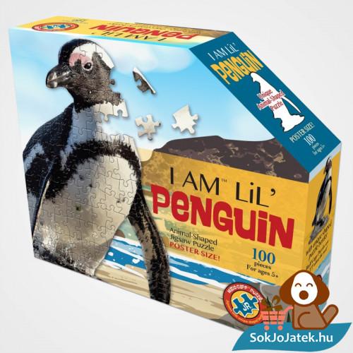 100 db élethű pingvin forma kirakó junior - Wow Toys doboza