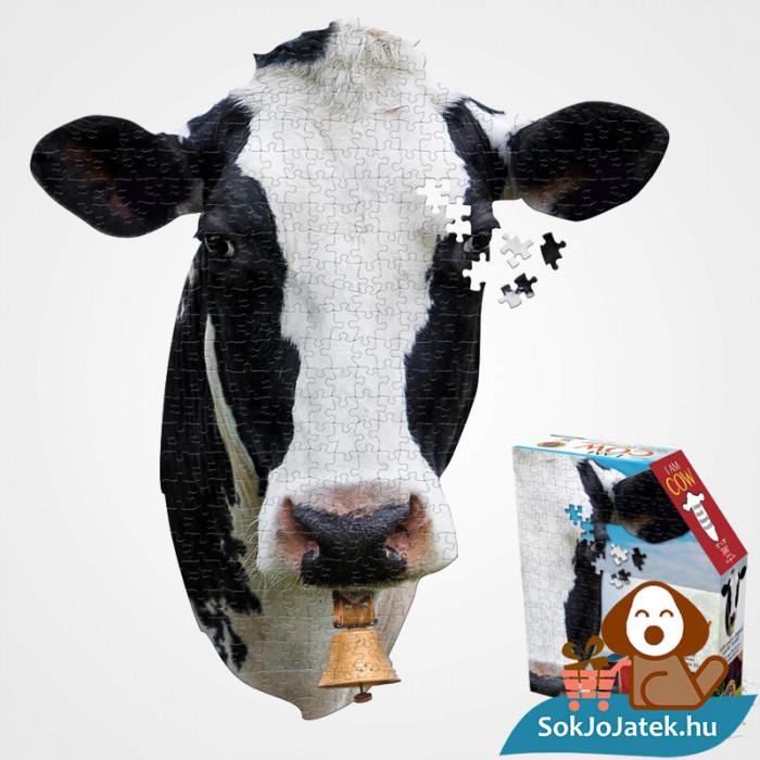 300 db élethű tehenes forma kirakó junior - Wow Toys kirakott kép és a doboza