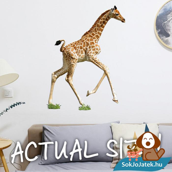 100 db élethű zsiráf forma kirakó junior - Wow Toys kirakó a falon