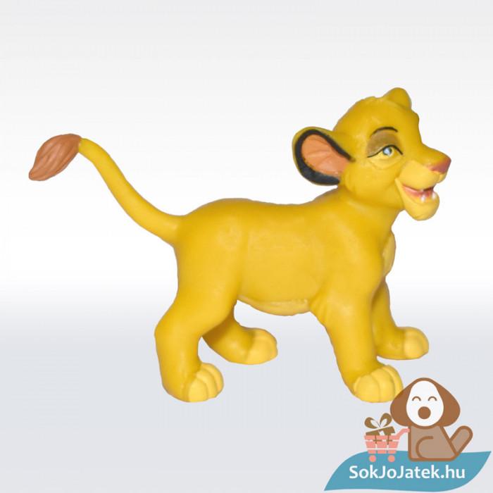 Az Oroszlánkirály: Simba kölyök gumírozott figura - Bullyland, oldalról