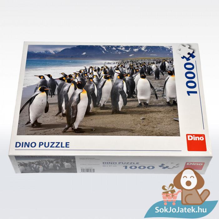 Dino Puzzle: Pingvinek - 1000 db, oldalról