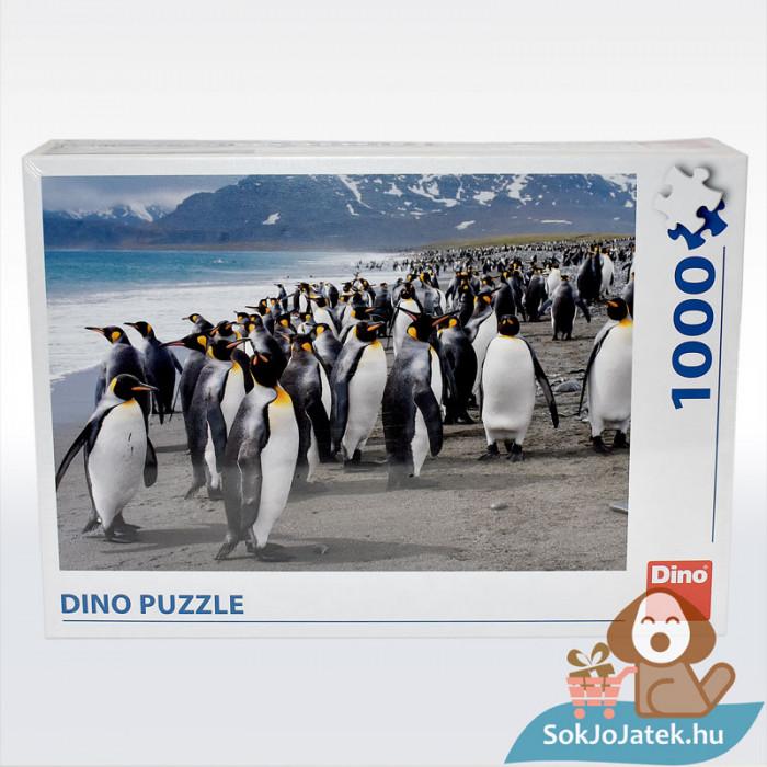 Dino Puzzle: Pingvinek - 1000 db, szemből