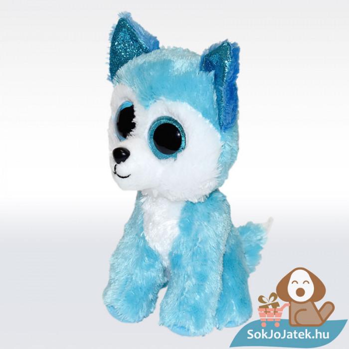 TY Beanie Boos - Prince, kék színű plüss husky, balról