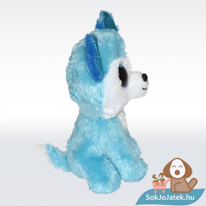 TY Beanie Boos - Prince, kék színű plüss husky, oldalról