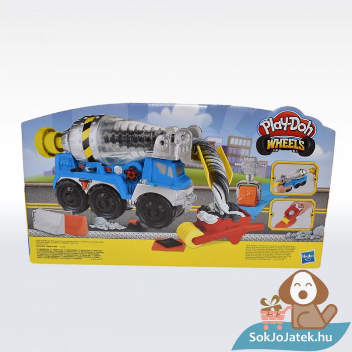 Play-Doh: Betonkeverő autó gyurma készlet, hátulról