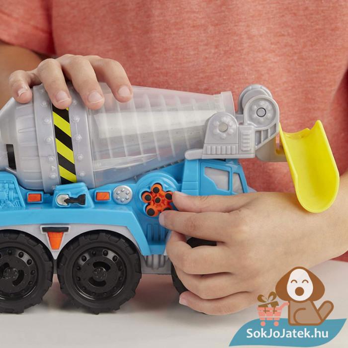 Play-Doh: Betonkeverő autó gyurma készlet, kreatív játék