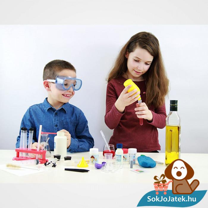 150 kisérletes Buki kémiai labor gyerekeknek játék közben