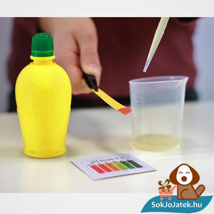 150 kisérletes Buki kémiai labor gyerekeknek kisérlet citrommal