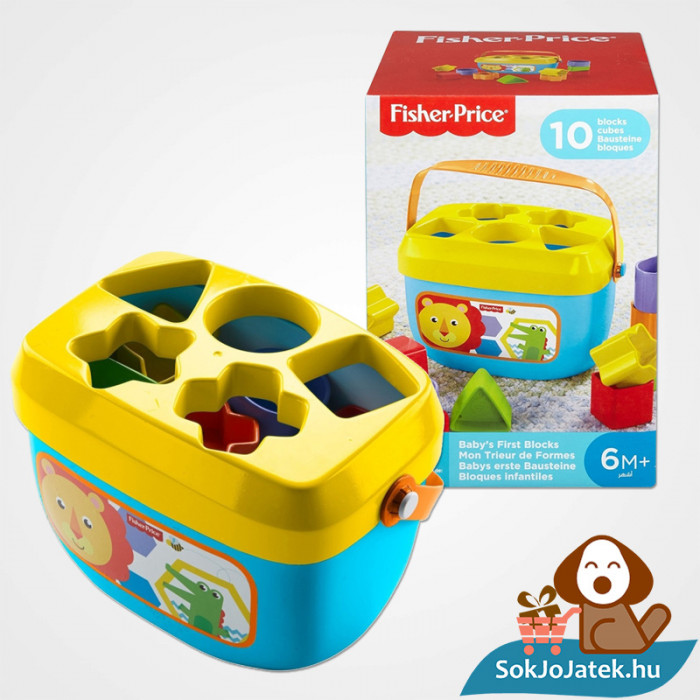 10 darabos Fisher-Price formaevő doboz (Mattel)