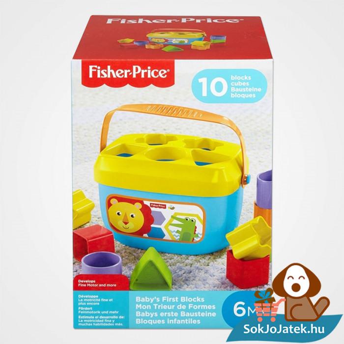 10 darabos Fisher-Price formaevő doboz (Mattel) doboza
